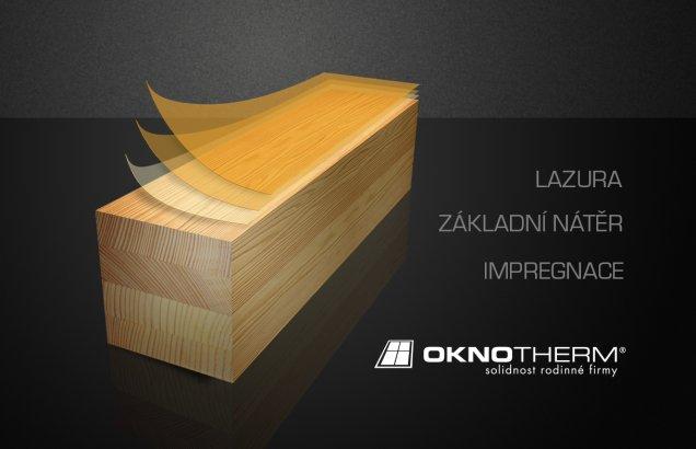 Povrchová úprava dřeva 3-fázovou dílcovou metodou značky Zobel